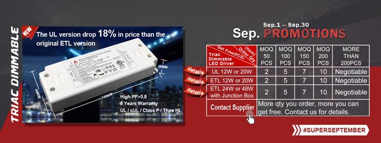 Custom UL cUL certificate triac dimmable led driver 12v 20w