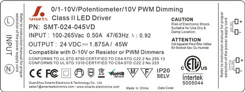 0-10v dimmable led power supply