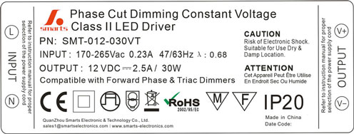 30w dimmable led driver