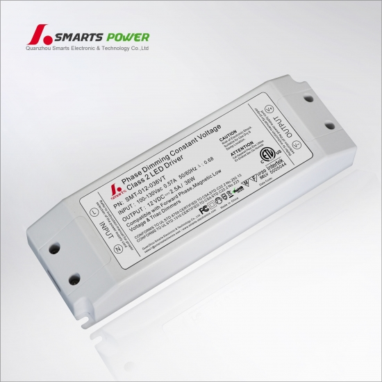 ETL CE Constant Voltage Triac Dimmable LED Power Supply