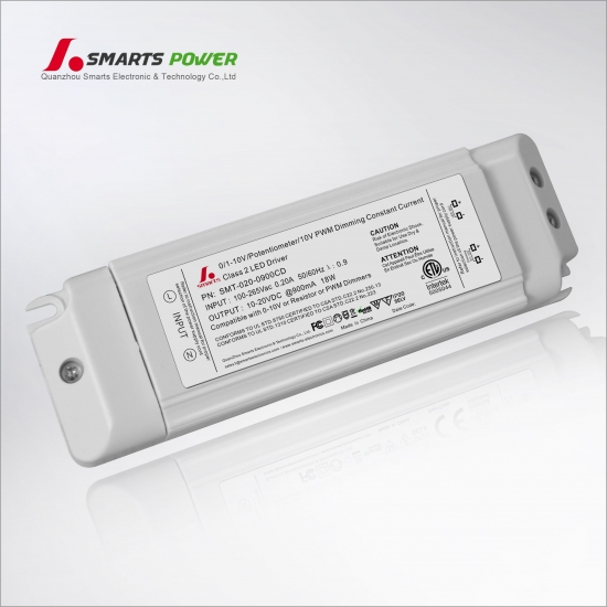 900mA 18W 0-10V/PWM dimmable LED driver