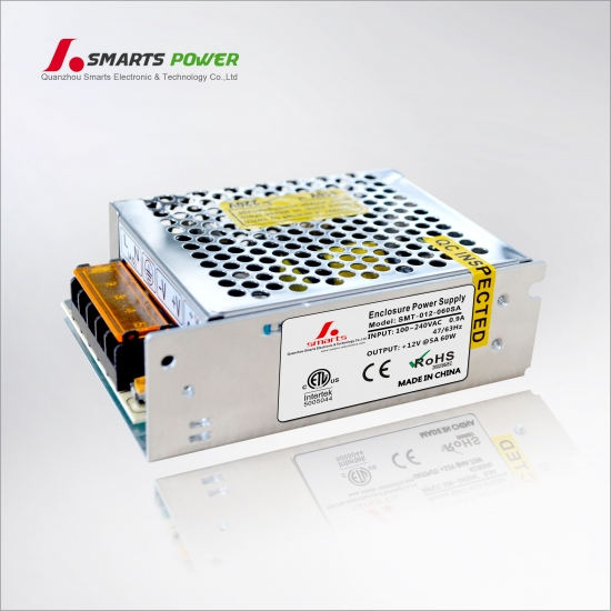 Best 12v 60w enclosure power supply