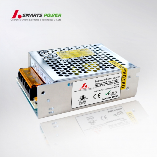 Best 230vac to 24vdc 50W enclosure power supply with CE approval