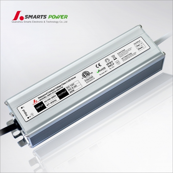 ETL listed 12v 60w Constant Voltage LED Power Supply