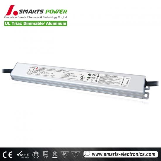 Custom 110v 277v 24 Volt 100 Watt Dimmable Led Driver For
