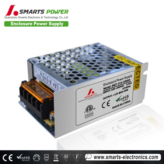 Best 12v 36w enclosure power supply with CE/ROHS Listed
