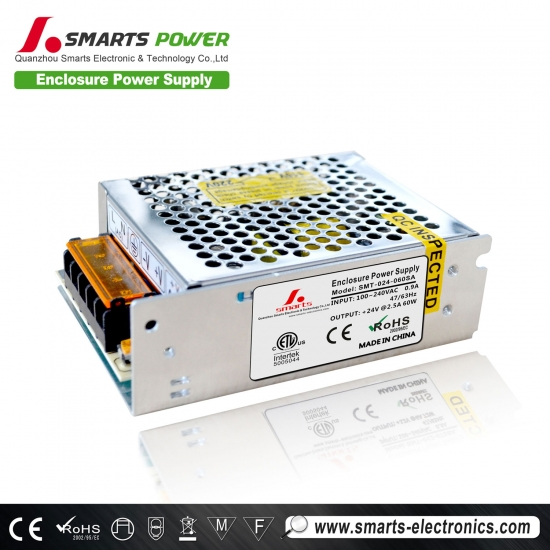Best 24v 60w enclosure power supply
