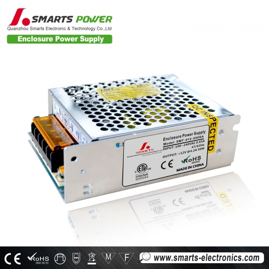 12V 50W enclosure power supply