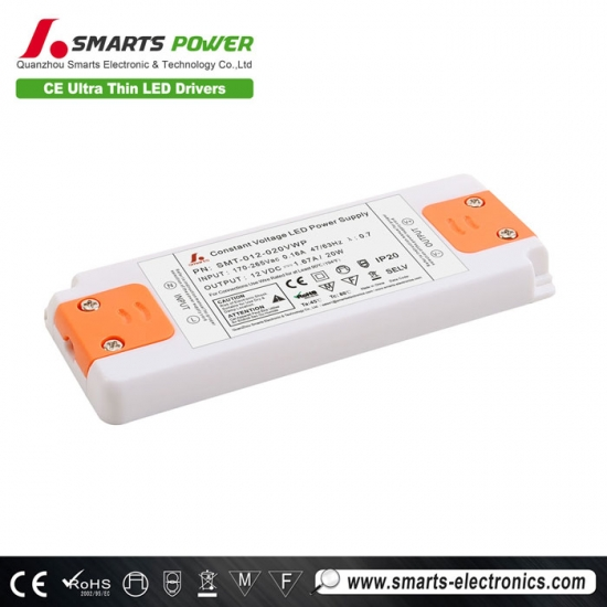 12V 20W Constant Voltage LED Driver with CE Certification