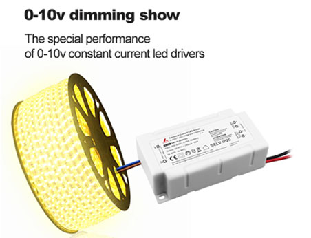 0-10v dimming show -- The special performance of 0-10v constant current led drivers