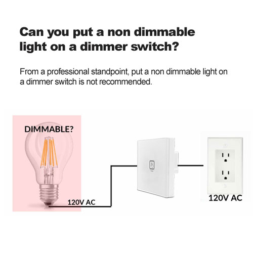 Can you put a non dimmable light on a dimmer switch?