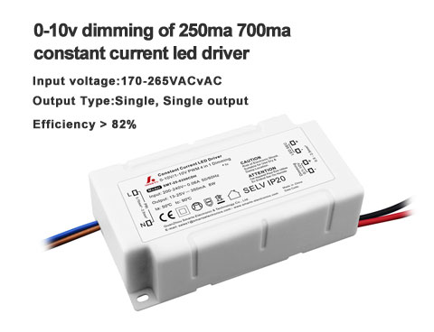 0-10v dimming show- The connection of 250ma 700ma constant current led driver