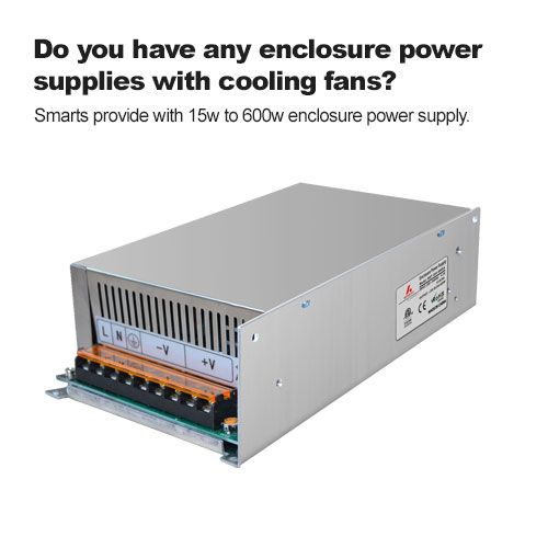 Do you have any enclosure power supplies with cooling fans?