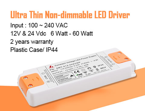 Dimming effect of SMARTS POWER IP44 slim size led driver 15w 20w 30w 42w 50w 60w