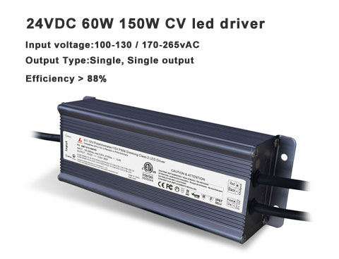 0-10v dimming show- 24VDC 60W 150W constant voltage led driver
